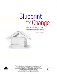 Blueprint for Change: Education Success for Children in Foster Care