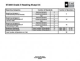 Blueprint STAAR Grade 3 Reading Test