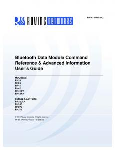 Bluetooth Command Reference & Advanced Information User's Guide