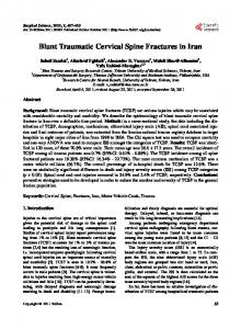 Blunt Traumatic Cervical Spine Fractures in Iran - Scientific Research ...