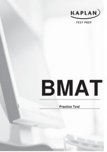 bmat practice test - Kaplan Test Prep and Admissions