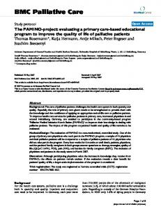 BMC Palliative Care - Springer Link