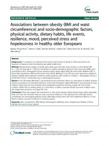 BMI and waist circumference - BioMedSearch