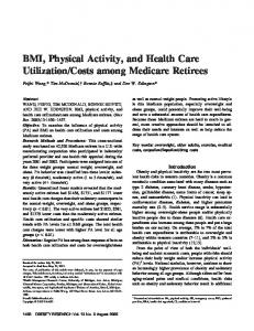 BMI, Physical Activity, and Health Care Utilization/Costs among ...