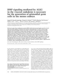 BMP signaling mediated by ALK2 in the visceral endoderm is ...