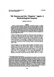 BMr Keynes and the FClassics_^ Again: A ... - Springer Link