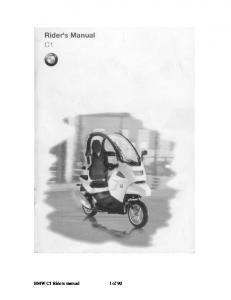 BMW C1 Riders manual 1 of 90