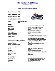 BMW R1150R Specifications - BM Bikes