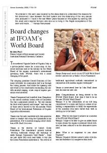 Board changes at IFOAM's World Board