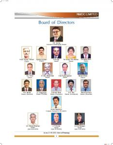 Board of Directors - NMDC Limited