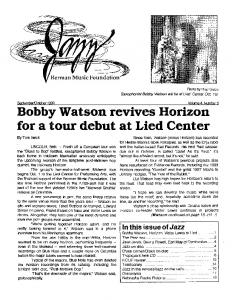 Bobby Watson revives Horizon for a tour debut at Lied Center