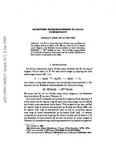BOCKSTEIN HOMOMORPHISMS IN LOCAL COHOMOLOGY