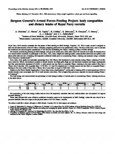 body composition and dietary intake of Royal Navy ...