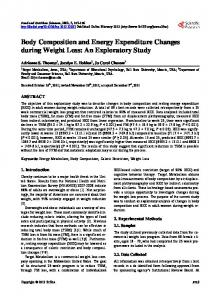Body Composition and Energy Expenditure ... - Semantic Scholar