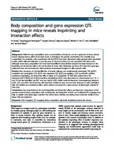 Body composition and gene expression QTL mapping in ... - CiteSeerX