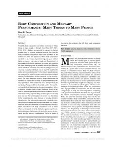 BODY COMPOSITION AND MILITARY ... - Semantic Scholar