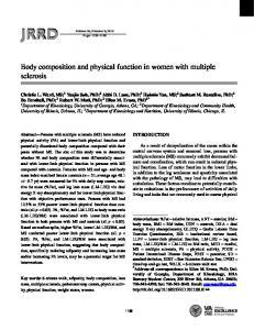 Body composition and physical function in women with multiple sclerosis