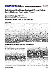 Body Composition, Dietary Intake and Physical Activity Level of ...