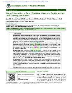 Body Composition in Type 2 Diabetes: Change in