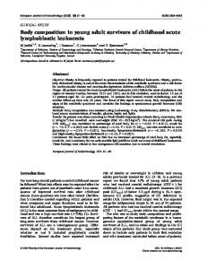 Body composition in young adult survivors of childhood acute ...