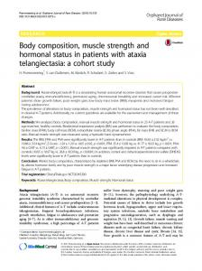 Body composition, muscle strength and hormonal status in patients ...