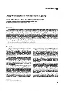 Body Composition Variations in Ageing - Semantic Scholar