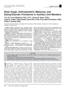 Body Image, Anthropometric Measures, and Eating-Disorder ...