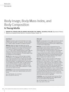 Body Image, Body Mass Index, and Body Composition
