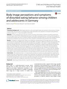 Body image perceptions and symptoms of disturbed eating behavior ...