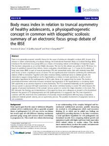 Body mass index in relation to truncal asymmetry of healthy ...