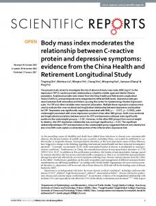 Body mass index moderates the relationship ... - Semantic Scholar