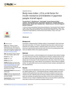 Body mass index - PLOS