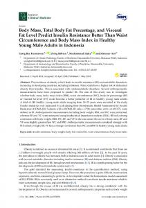 Body Mass, Total Body Fat Percentage, and Visceral Fat Level ... - MDPI