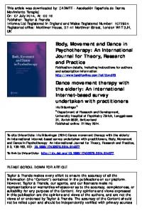 Body, Movement and Dance in Psychotherapy: An