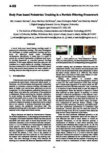 Body Pose Based Pedestrian Tracking in a Particle ... - Semantic Scholar