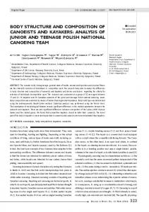 body structure and composition of canoeists and ... - Semantic Scholar