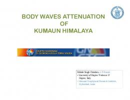 body waves attenuation of kumaun himalaya