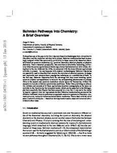 Bohmian pathways into chemistry: A brief overview
