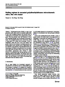 Boiling regimes in uncoated polydimethylsiloxane ... - Springer Link