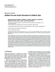 Boldine Prevents Renal Alterations in Diabetic Rats
