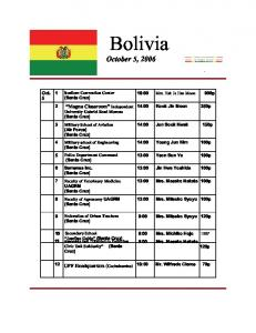 Bolivia - True Parents Organization