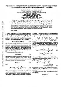 Boltzmann-Gibbs entropy is sufficient but not necessary for the ...