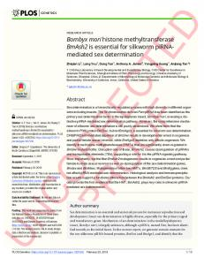 Bombyx mori histone methyltransferase BmAsh2 is