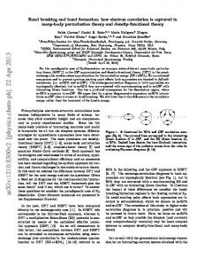 Bond Breaking and Bond Formation: How Electron Correlation is ...