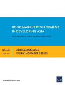 Bond Market Development in Developing Asia - Asian Development ...