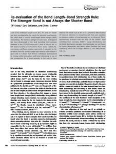 Bond Strength Rule - Wiley Online Library