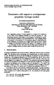 bondage number - The Australasian Journal of Combinatorics