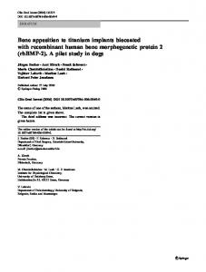Bone apposition to titanium implants biocoated with ... - Springer Link