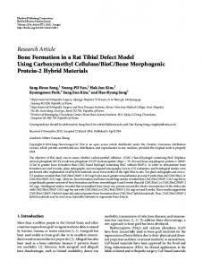 Bone Formation in a Rat Tibial Defect Model Using Carboxymethyl ...