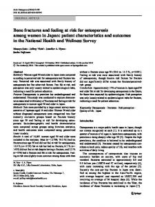 Bone fractures and feeling at risk for osteoporosis among ... - Core